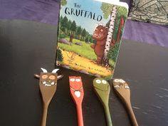 The Feverish Feltist: Gruffalo DIY: Wooden spoon Gruffalo puppets.so easy! Gruffalo Activities, Literacy Activities, Activities For Kids, Literacy Bags, The Gruffalo, Gruffalo Party, Gruffalo Costume, Gruffalo Eyfs, Story Sack