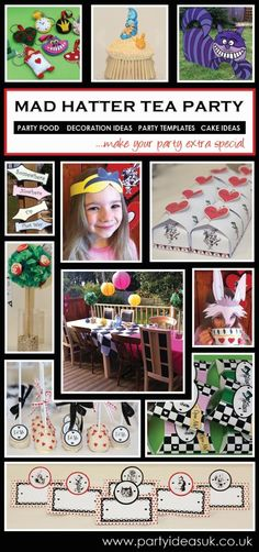 Alice in Wonderland Party and Mad Hatter Tea Party Ideas and Themes