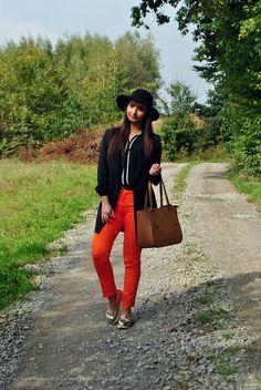 fashion&makeup: Pomarańczowe liście...