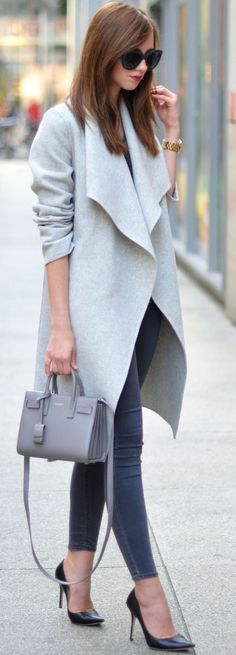 #popular #street #style #outfits #spring #2016 | Greyish Chic Fall Streetstyle Inspo by Vogue Haus