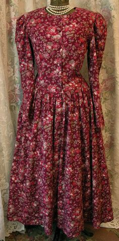 Vintage 80s Laura Ashley Fall dress by VintageClothingandCo, $59.99