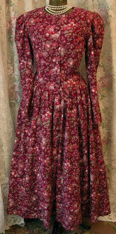 Vintage 80s Laura Ashley Fall dress by VintageClothingandCo, $59.99