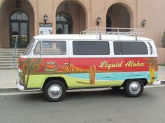 When this van works it's awesome! Hawaii Surf, Hawaii Travel, Hawaii Life, Vw Camper, Vw Bus, Volkswagen, Kona Brewing, Van Wrap, Brand Promotion