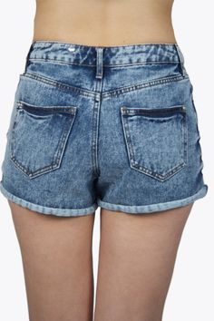 Vintage shorts are the perfect summer must-have! The shorts are made of bleached blue colored jeans and has a short model. The shorts have a little high shape..  #2dayslook #shorts #jeans  www.2dayslook.com