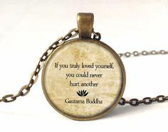 QUOTE-Buddha Necklace, Quote Pendant, 0229PB from EgginEgg by DaWanda.com