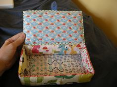 Fabric Box Case Tutorial (A lot of these fabric crafts would work wonderfully for #mori girl fashion/crafts.)