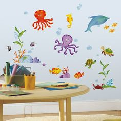 Under The Sea Wall Stickers, Sealife Wall Stickers, Fish and Dolphin Wall Stickers | Becky & Lolo