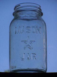 Antique Mason Jar with Star - Missouri