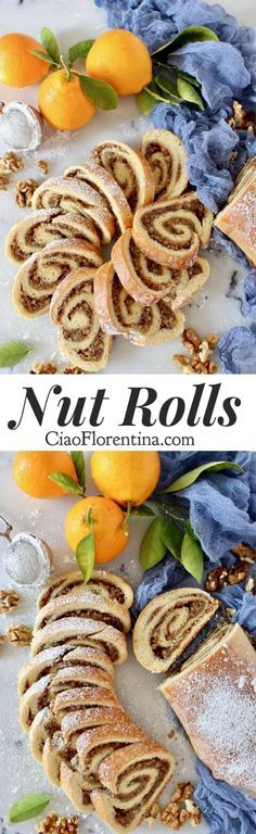 An Eastern European Christmas tradition, this nut roll recipe can be made with ground walnuts, pecans, raisins and even a poppy seed filling. Nut Roll Recipe, Rolls Recipe, Poppy Seed Filling, Cookie Recipes, Dessert Recipes, Breakfast Recipes, Cheesecake, Sweet Bread, Delicious Desserts