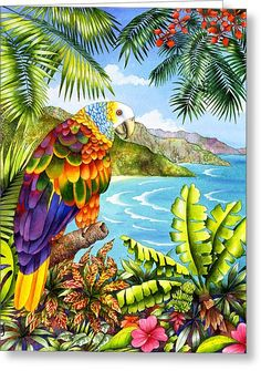Vinnies Vista Greeting Card by Carolyn Steele