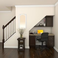 office under stairs basements * office under stairs . office under stairs ideas . office under stairs closet . office under stairs small . office under stairs with door . office under stairs basements Home Stairs Design, Home Office Design, Home Office Decor, House Design, Home Decor, Office Table, Office Ideas, Office Under Stairs, Under Stairs Nook