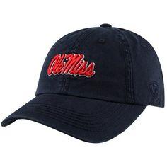 Top of the World Mississippi Rebels Crew Adjustable Hat - Navy Blue 6492309ef5e
