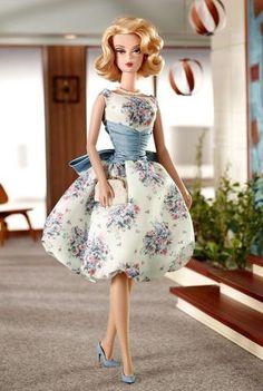 Mad Men Silkstone Barbie Betty Draper Fashion Model Gold Label in Tissue | eBay