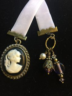Cameo Bookmark by Yvonnesbabbles on Etsy