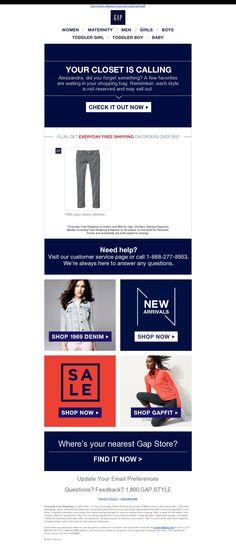 GAP email su prodotto in wishlist (stesso giorno dell'inserimento) Email Design Inspiration, Sport Inspiration, Design Ideas, Le Shop, Denim Shop, Gap Women, Baby Kids Clothes, Email Marketing, Toddler Boys