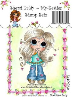 My Friends klare Stempel Big Eye friends Großkopf von SherriBaldy, $10.99