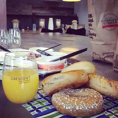 Mimosas, Bagels, & Fruit!  Brunch @ the Crescent Ninth Street Clubhouse!