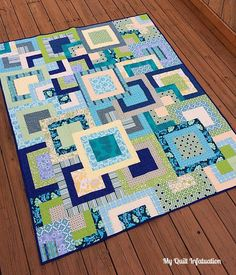 I finished my Fresh Stacks quilt on Saturday evening, just in time for my quilt guild meeting on...