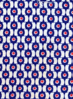 Red, white & blue vintage fabric. Sort of reminds me of peacock feathers