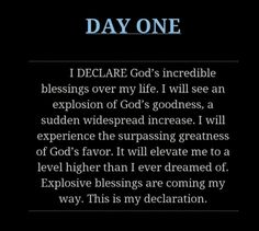 Day 1 - Joel Osteen ~ I Declare Blessings Joel Osteen, Bible Quotes, Bible Verses, Me Quotes, Famous Quotes, Daily Quotes, Prayer Scriptures, God Prayer, Prayer Quotes