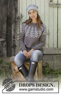 Ravelry: a Inner Circle Sweater pattern by DROPS design Fair Isle Knitting Patterns, Jumper Patterns, Sweater Knitting Patterns, Free Knitting, Crochet Patterns, Knitting Ideas, Drops Design, Top Pattern, Free Pattern