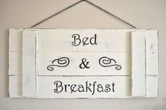 Shabby Chic Decor Cottage Decor Sign Bed & by TheCrickettyCottage, $110.00