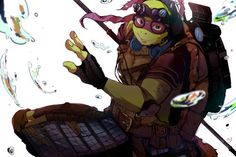 *squeel* *turns to jelly* *dies from seeing so much cuteness* Teenage Ninja, Teenage Mutant Ninja Turtles, Nickelodeon Cartoons, Ninja Turtles Art, Tmnt 2012, Manga, Anime, Fandoms, Comics