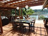 Outdoor deck with cable railing cablerailings.com Cable Railing, Deck With Pergola, Outdoor Furniture, Outdoor Decor, Decks, Photo Galleries, Outdoors, American, Gallery