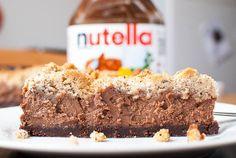 Nutella-Schoko-Käsekuchen mit Haselnuss-Streuseln