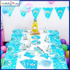 84 Pcs Themed Kids Birthday Party SET – Prince 2