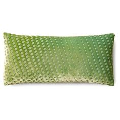 Check out this item at One Kings Lane! Polka Dot 7x15 Pillow, Grass