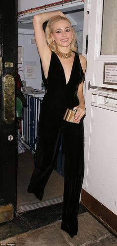 Stunning: It was all change for Pixie Lott as she emerged from the Haymarket Theatre in Lo...