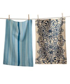 Look what I found on #zulily! Natural Floral Dish Towels - Set of Two #zulilyfinds
