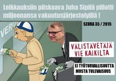 PM juha sipilä steal from own people to give to his refugee friends