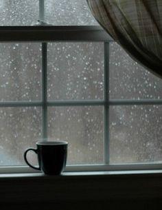 rain, winter, and coffee image