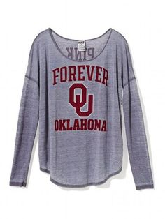 University of Oklahoma Long-sleeve Drapey Tee