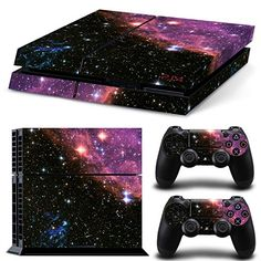 Galaxy Star Vinyl Skin Sticker Cover For Sony Console With 2 Controllers Decal For Playstation 4 For Dualshock 4 Gamepad Playstation 4 Console, Playstation Games, Ps3, Control Ps4, Playstation 4 Accessories, Videogames, Mundo Dos Games, Destiny Game, Ps4 Skins