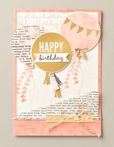 We love the combination of the colors and textures on this card made with the Celebrate Today stamp set.