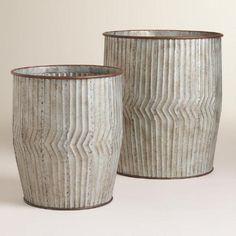 *similar* Planters. Metal Peyton Barrel