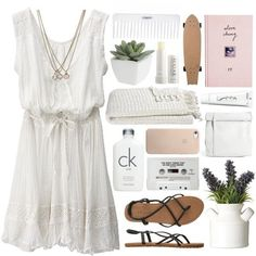 White cute summer dress