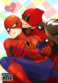 【1/8 CC109】デプスパ新刊サンプル [1]Spideypool Deadpool Spiderman
