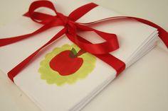 Kid-made notecards- teacher gift!