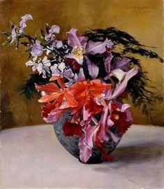 Flowers by Wada Eisaku (Kagoshima City Museum of Art) - 和田英作 - Wikipedia Kagoshima, City Museum, Flowers, Painting, Painting Art, Paintings, Royal Icing Flowers, Painted Canvas, Flower