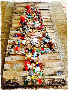 A Community Christmas Tree made from beautiful loose parts - Blue House international School ≈≈