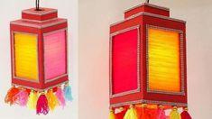 Let us celebrate Diwali with this unique Diwali Lantern craft. What makes this lampshade unique is the use of w. Diwali Lantern, Diwali Lamps, Diwali Lights, Home Lanterns, Lanterns Decor, Christmas Lanterns, Diy Christmas, Handmade Lanterns, Handmade Lamps