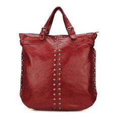 #NewChic - #NewChic Women Vintage PU Leather Rivet Punk Handbag - AdoreWe.com