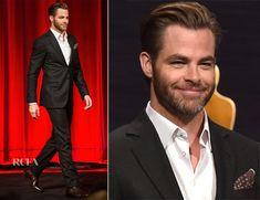 Chris Pine In #GiorgioArmani – 87th Academy Awards Nominations Announcement