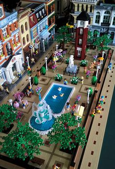 Minecraft Lego, Minecraft Houses, Table Lego, Lego Christmas Village, Lego Winter, Lego Display, Lego Sculptures, Lego Boards, Amazing Lego Creations