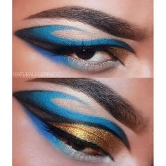Were in love with Bria's incredible Sea Dragon look using Sugarpill Afterparty and Goldilux eyeshadow. The shape is just so creative and brilliant!