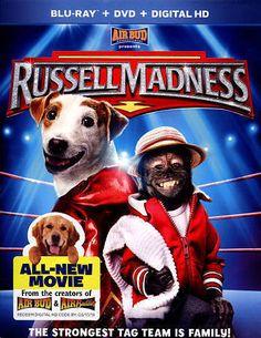 RUSSELL MADNESS AIR BUD BLU-RAY +DVD + DIGITAL HD 2014 RATED PG GAG REEL INCL. #UNIVERSALSTUDIOS